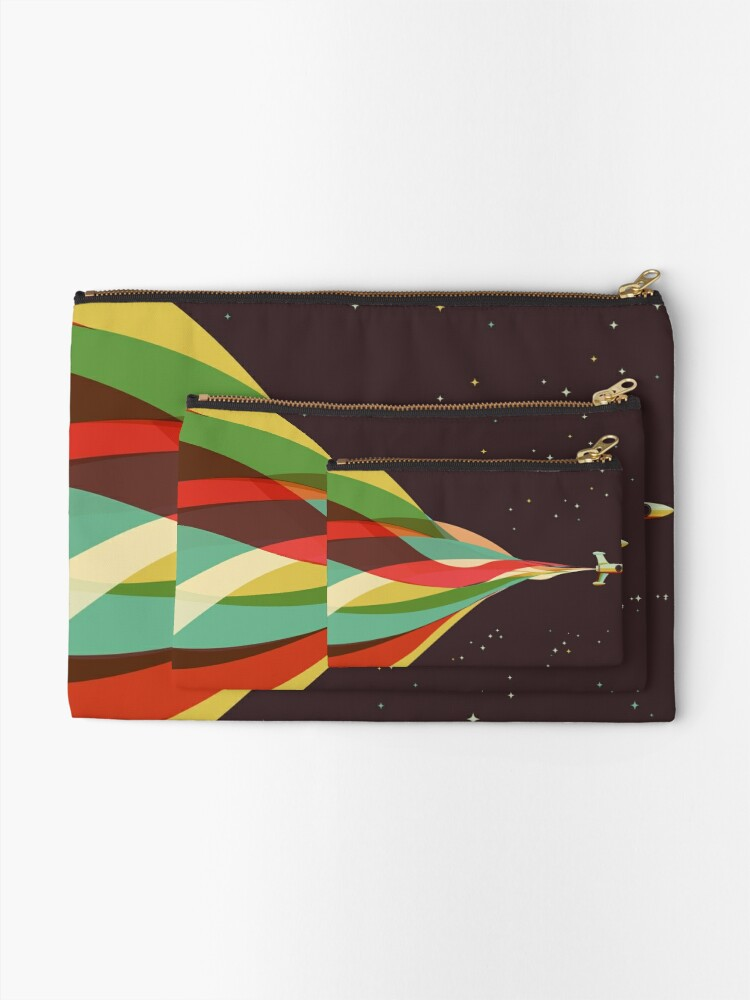 Alternate view of Kaleidoscope to the Stars Zipper Pouch