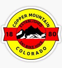 COPPER MOUNTAIN COLORADO SKI BIKE HIKE MOUNTAINS ESTABLISHED 1880 Sticker