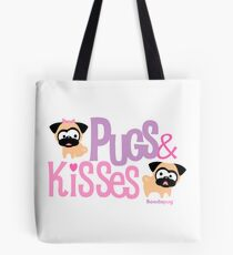 Pugs & Kisses Logo Tote Tote Bag