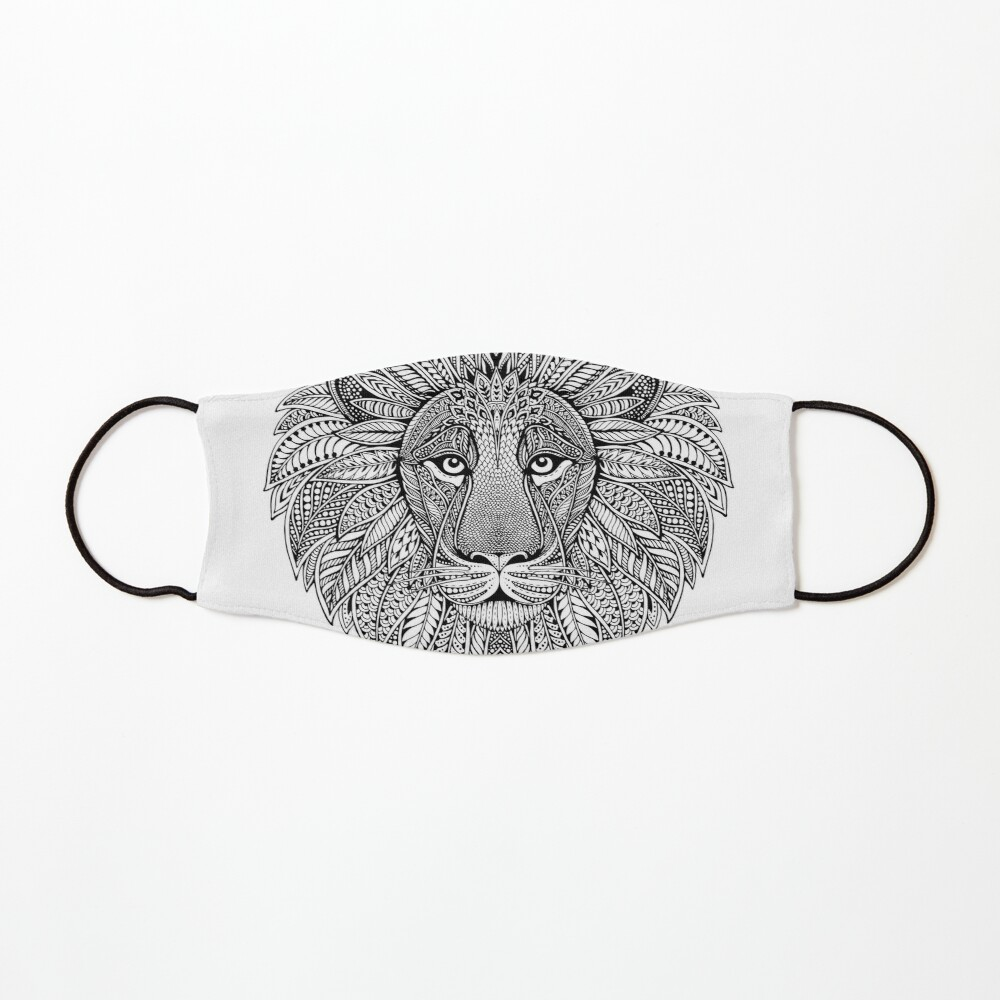 Wild Artistic Lion from Africa Mask