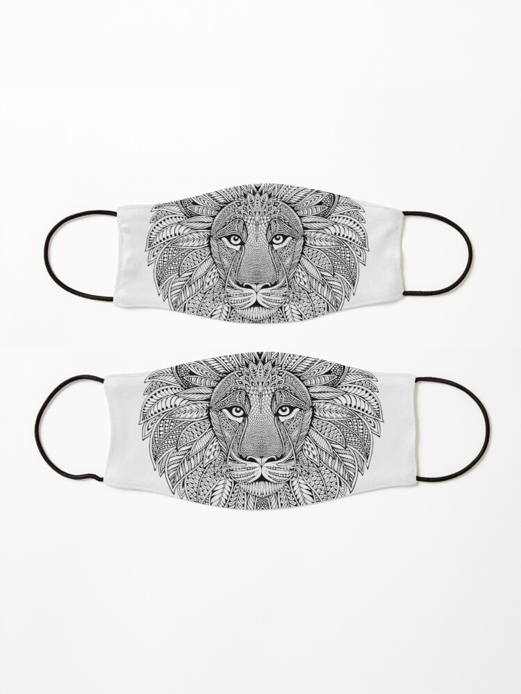 Alternate view of Wild Artistic Lion from Africa Mask