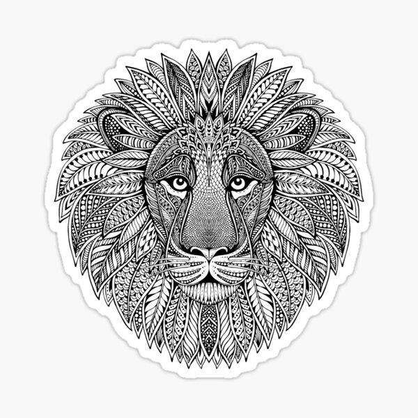 Wild Artistic Lion from Africa Sticker
