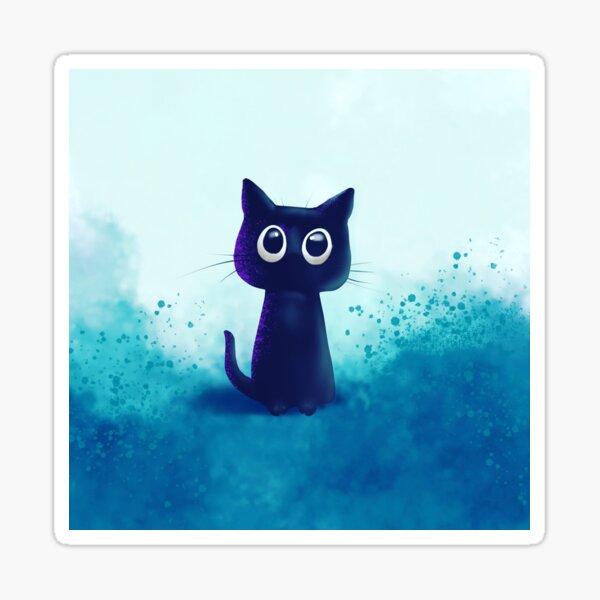 Schwarzes Kätzchen - Purrfekt Sticker