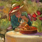 Tea in the Golden Garden by Sally  Rosenbaum