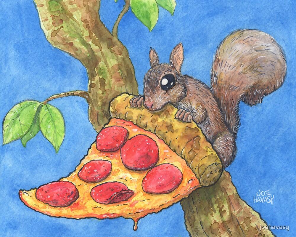 Pizza Squirrel by joehavasy