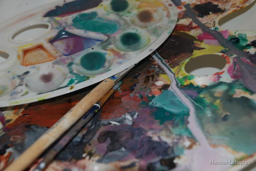 watercolour paint palette  by HannahLstaples