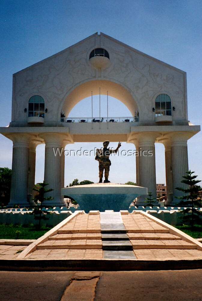 Military Monument / Arch in The Gambia - Print by WonderMeMosaics