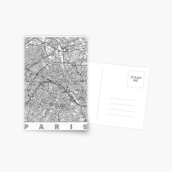Paris Map Line Postcard