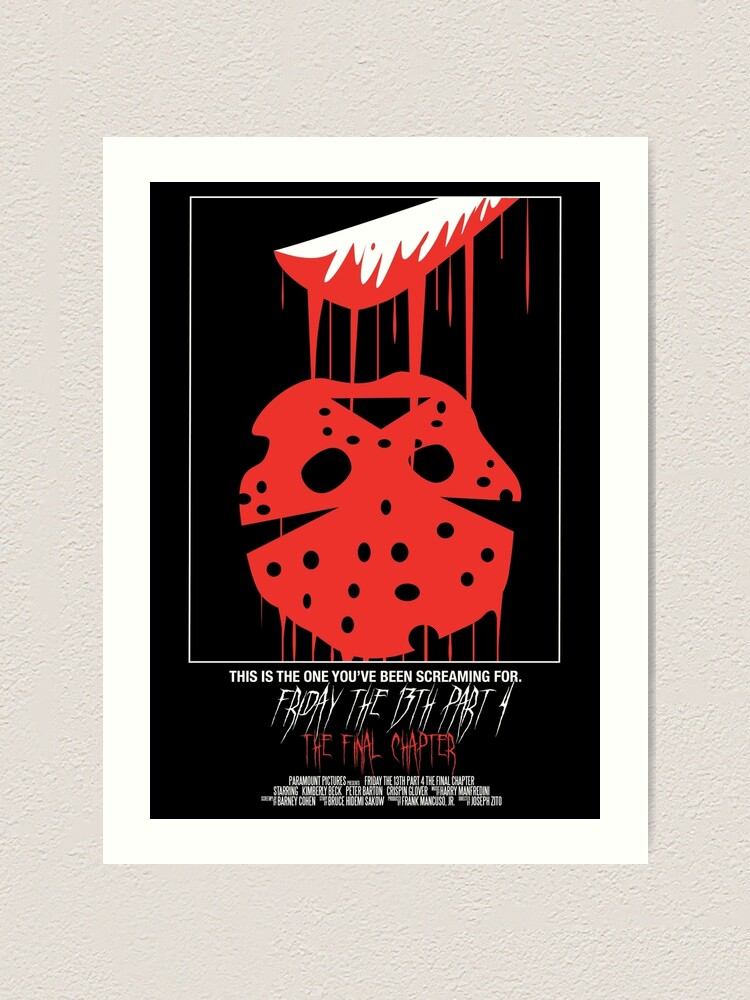 Alternate view of Friday The 13th Part 4: The Final Chapter Art Print