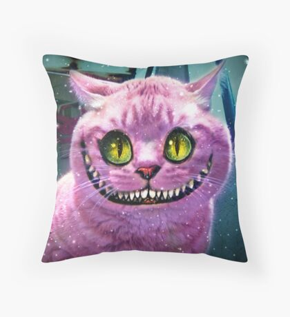 We're All Mad Here! Throw Pillow
