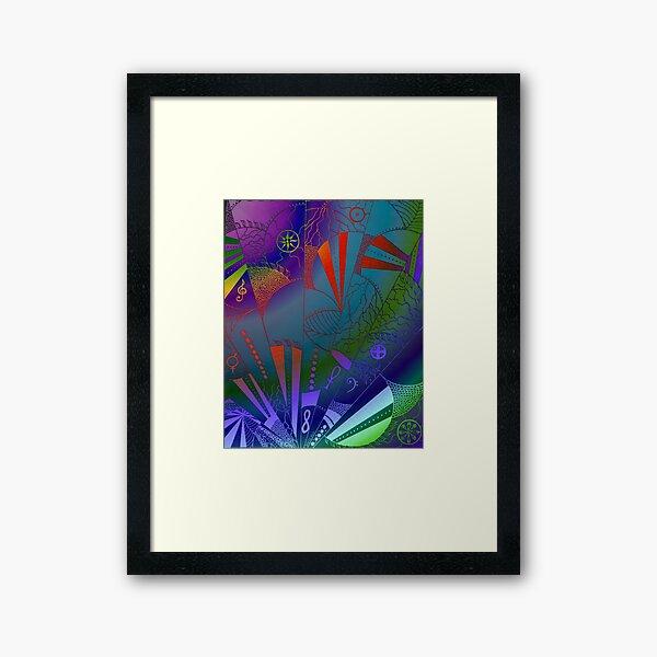 Web of Life - An Organic Drawing  Framed Art Print