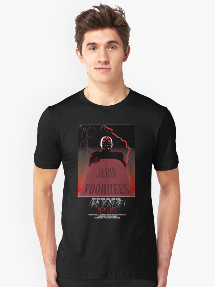 Friday The 13th Part 6: Jason Lives Unisex T-Shirt Front