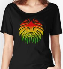 Like a Lion, Reggae, Rastafari, Africa, Jah, Jamaica,  Women's Relaxed Fit T-Shirt