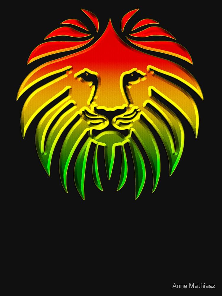 Like a Lion, Reggae, Rastafari, Africa, Jah, Jamaica,  von boom-art