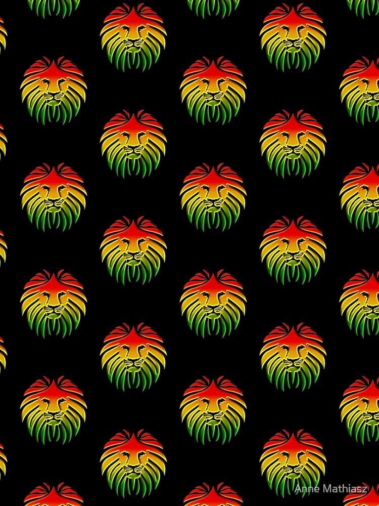 Like a Lion, Reggae, Rastafari, Africa, Jah, Jamaica,  by boom-art