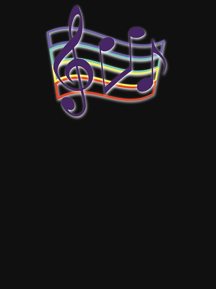 Warped Neon Rainbow Music by zarkow