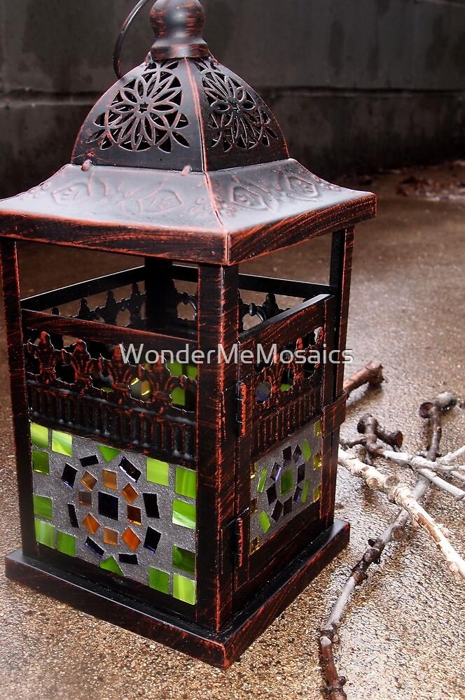 Stained Glass Mosaic Lantern - Print by WonderMeMosaics