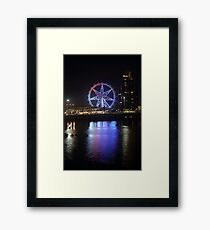 Ferris Wheel Colour Reflections Framed Print