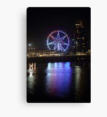 Ferris Wheel Colour Reflections Canvas Print