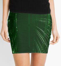 Green Lights - Matrix effect Mini Skirt