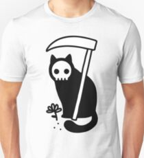 Grimmige Kitty Slim Fit T-Shirt
