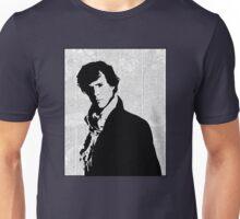 Sherlock With London Map Unisex T-Shirt