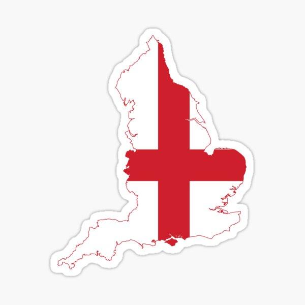 Flag Map of England  Sticker