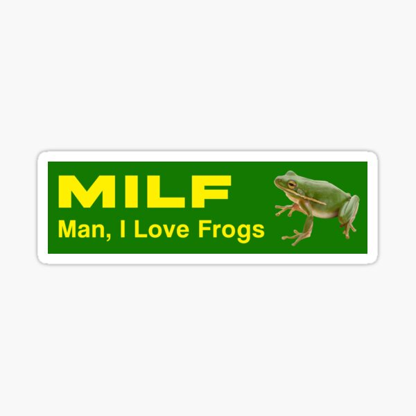 Homme MILF, j'adore les grenouilles Sticker