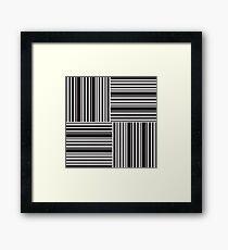 Stripes Elixir: Black and White Hollywood Inspired Framed Print