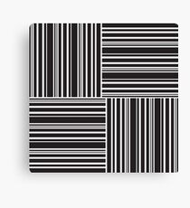 Stripes Elixir: Black and White Hollywood Inspired Canvas Print