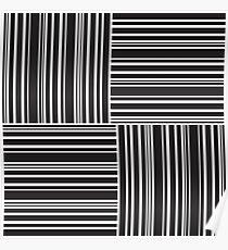Stripes Elixir: Black and White Hollywood Inspired Poster