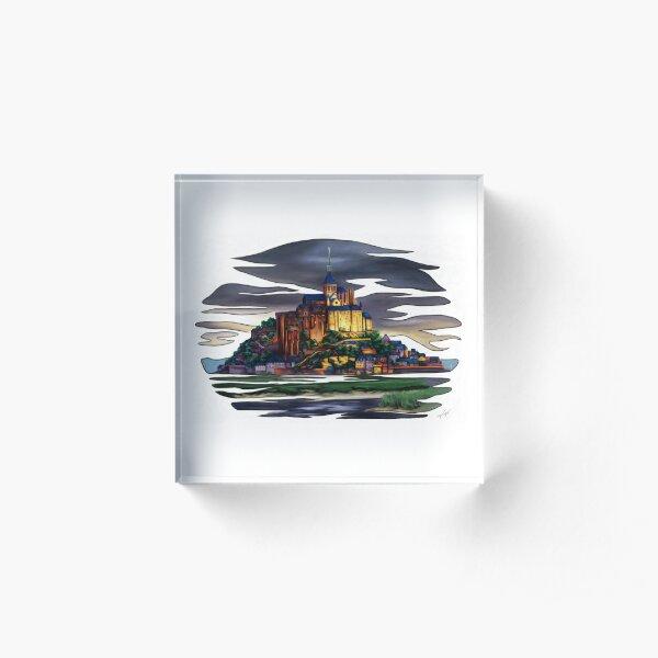 Mont saint Michel Bloc acrylique