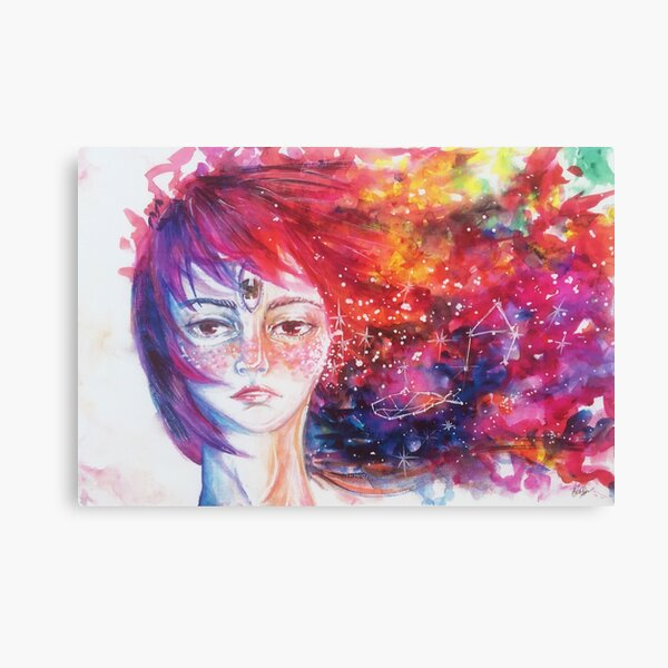 Universe Girl Canvas Print