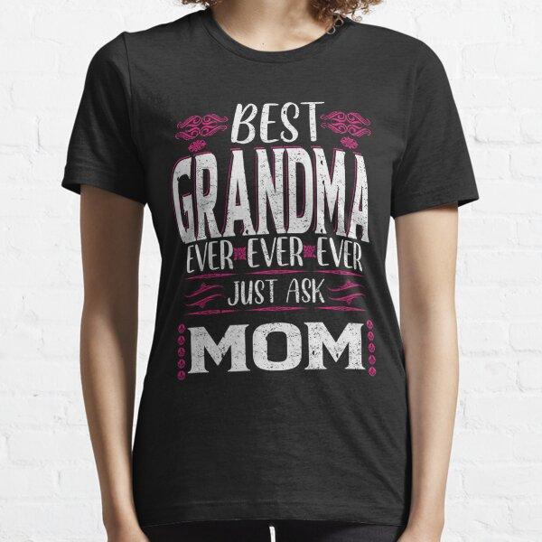 Todos Los Colores Y Tallas Camiseta De Niños Mamá Says No… Vamos A Ask Abuela