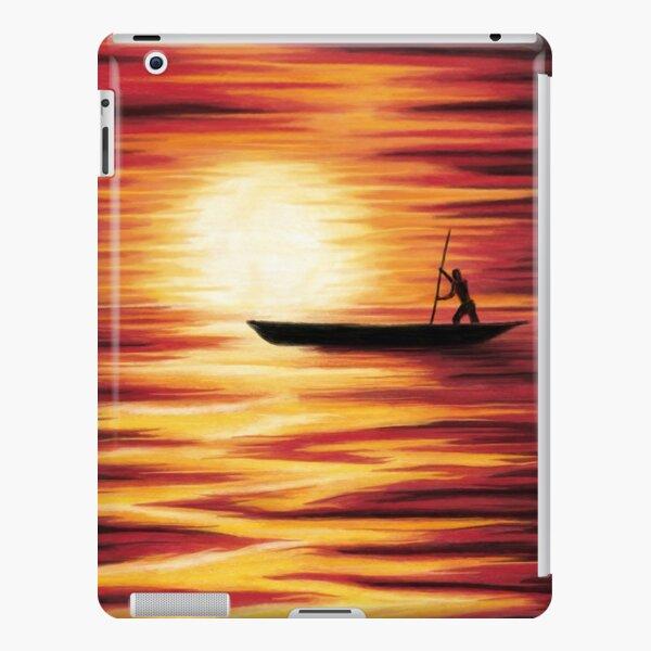 Pirogue soleil couchant Coque rigide iPad