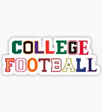 College Football Letters Sticker