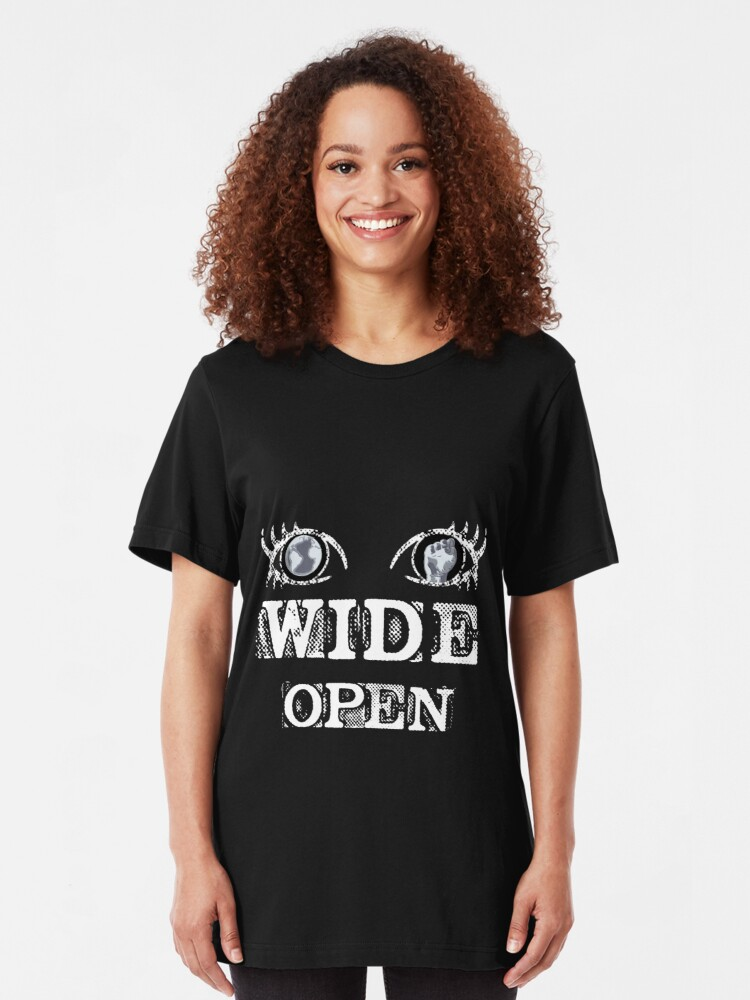 Alternate view of Eyes Wide Open - WHITE Slim Fit T-Shirt