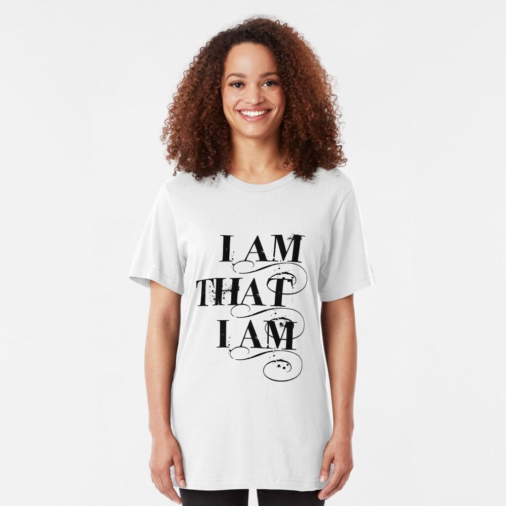 I Am That I Am - BLACK Slim Fit T-Shirt