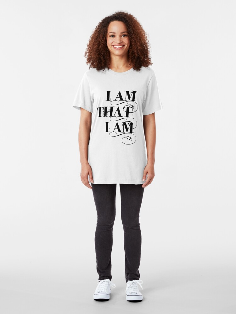 Alternate view of I Am That I Am - BLACK Slim Fit T-Shirt