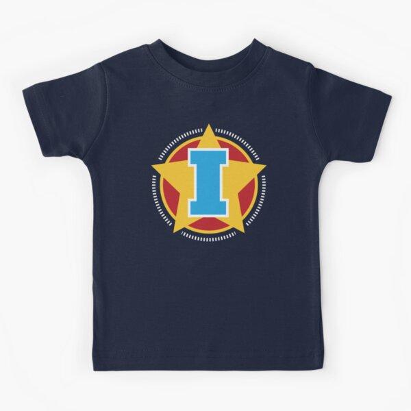 Superhero Letter I. Star and stripes Kids T-Shirt
