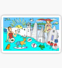 Funny Map of 30a in color Sticker