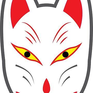 Kitsune Sticker by op4or