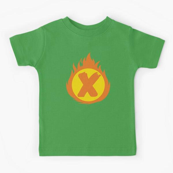Superhero Letter X. Fire Insignia Kids T-Shirt
