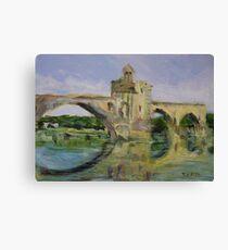 June Morning by Pont D'Avignon Canvas Print