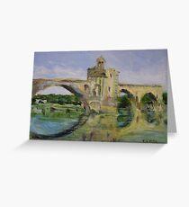 June Morning by Pont D'Avignon Greeting Card