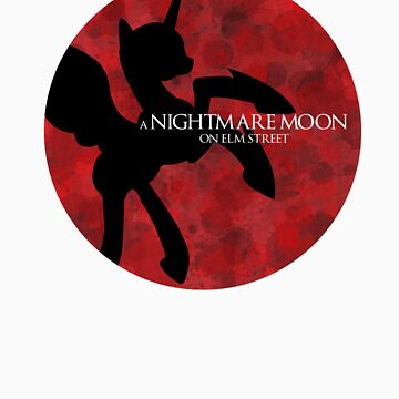 Nightmare Moon on Elm Street by drpsychoswanner