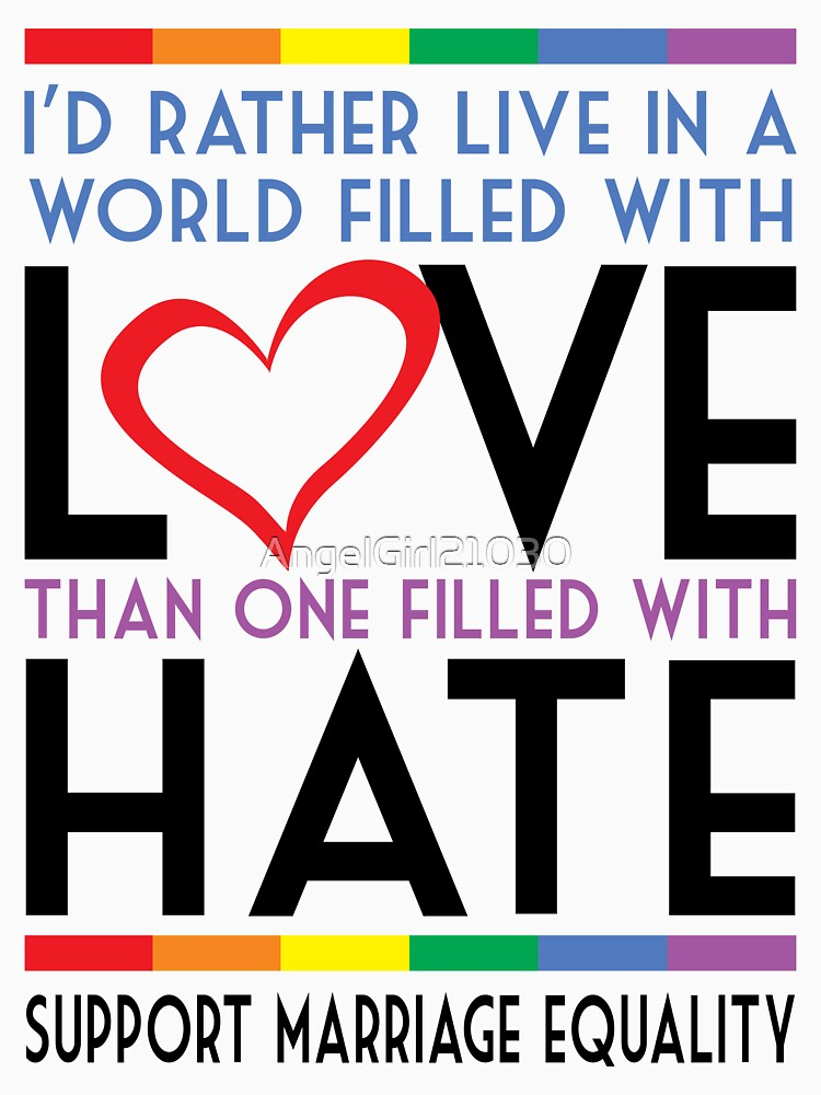 LGBT Love Over Hate by AngelGirl21030