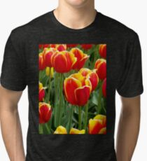 Bright Cheery Tulips Tri-blend T-Shirt