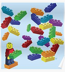 LEGOS and Minifigure Poster