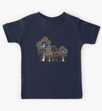 Colorful Four Seasons Trees Kids Tee
